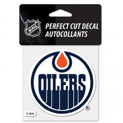 Edmonton Oilers Decal 4x4 Perfect Cut Color - Wincraft