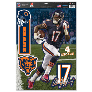 Chicago Bears Alshon Jeffery Decal 11x17 Multi Use - Wincraft
