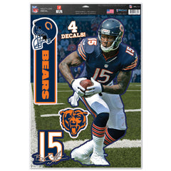 Chicago Bears Brandon Marshall Decal 11x17 Multi Use - Wincraft