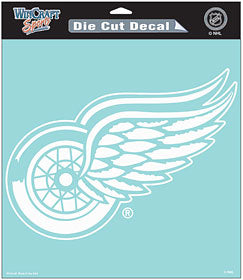 Detroit Red Wings Decal 8x8 Die Cut White - Wincraft