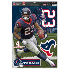 Houston Texans Arian Foster Decal 11x17 Multi Use - Wincraft