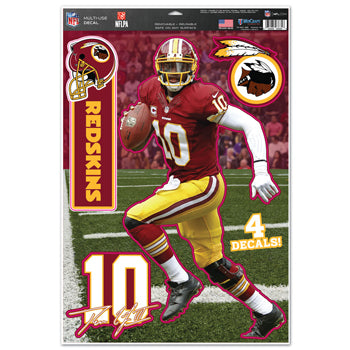 Washington Redskins Robert Griffin Decal 11x17 Multi Use - Wincraft