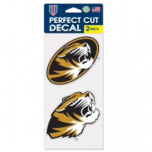 Missouri Tigers Set of 2 Die Cut Decals - Wincraft