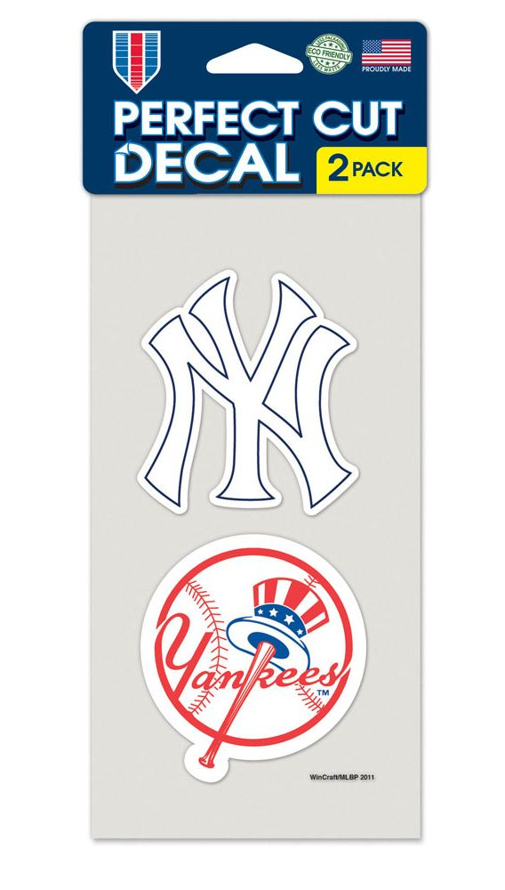 New York Yankees Set of 2 Die Cut Decals - Wincraft