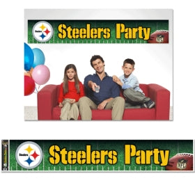 Pittsburgh Steelers Banner 12x65 Party Style - WINCRAFT INC.