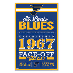 St. Louis Blues Sign 11x17 Wood Established Design - Wincraft, Inc.