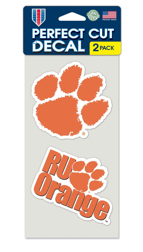 Clemson Tigers Set of 2 Die Cut Decals - Wincraft