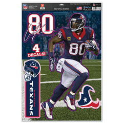 Houston Texans Andre Johnson Decal 11x17 Multi Use - Wincraft
