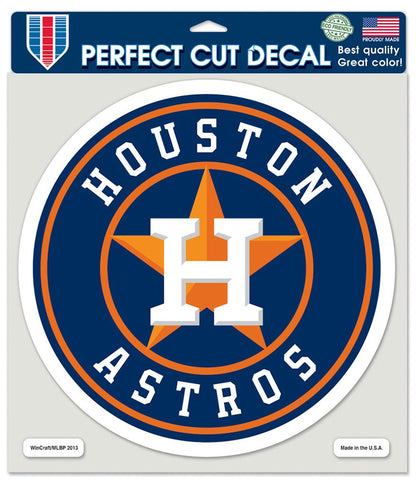 Houston Astros Decal 8x8 Die Cut Color - Wincraft