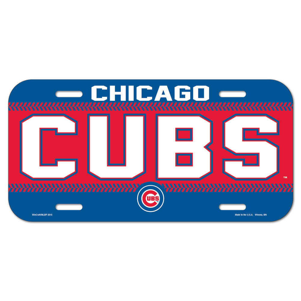 Chicago Cubs License Plate Plastic - Wincraft