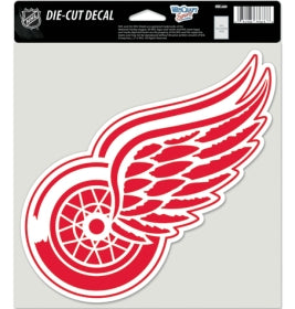 Detroit Red Wings Decal 8x8 Die Cut Color - Wincraft