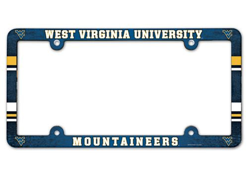 West Virginia Mountaineers License Plate Frame - Full Color - Wincraft