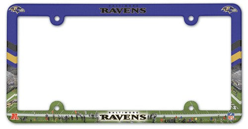 Baltimore Ravens License Plate Frame Plastic Full Color Style - Wincraft