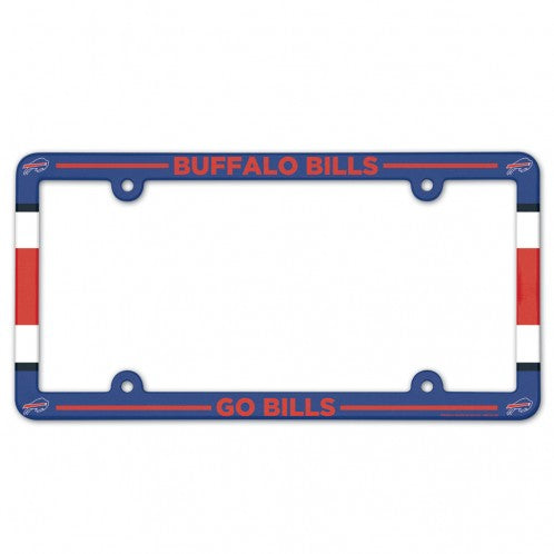 Buffalo Bills License Plate Frame Plastic Full Color Style - Wincraft