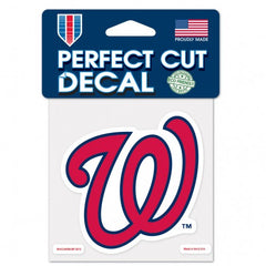 Washington Nationals Decal 4x4 Perfect Cut Color - Wincraft