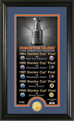 Edmonton Oilers Legacy Supreme Bronze Coin Panoramic Photo Mint - The Highland Mint