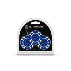St. Louis Blues Golf Chip with Marker 3 Pack - Team Golf
