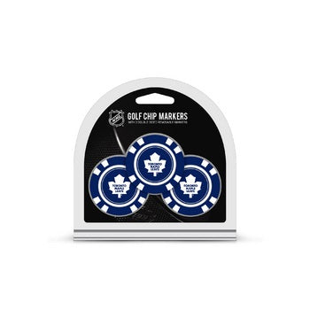 Toronto Maple Leafs Golf Chip with Marker 3 Pack - Team Golf