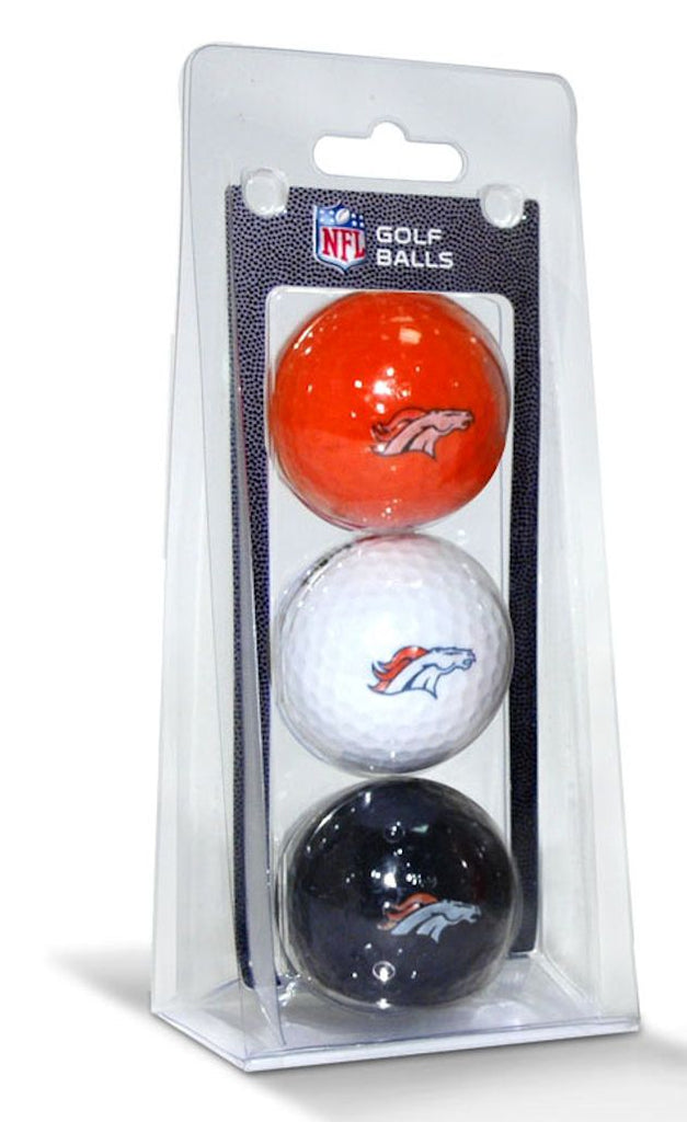 Denver Broncos 3 Pack of Golf Balls - Team Golf