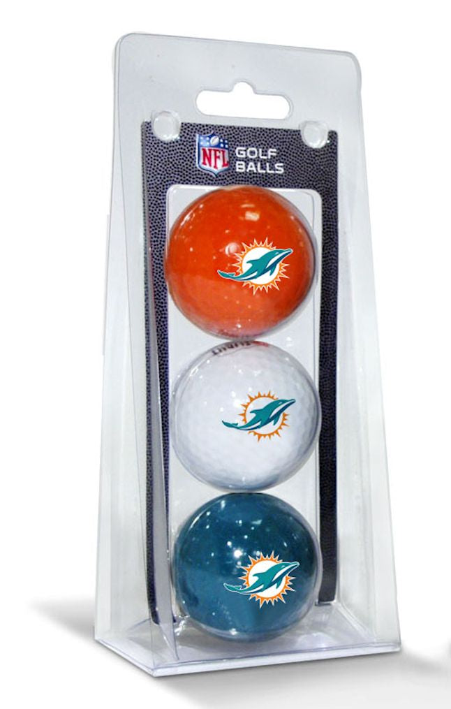 Miami Dolphins 3 Pack of Golf Balls - Team Golf