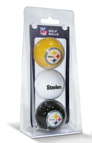 Pittsburgh Steelers 3 Pack of Golf Balls - Team Golf