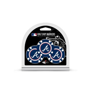 Atlanta Braves Golf Chip with Marker 3 Pack - Team Golf