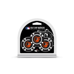 Baltimore Orioles Golf Chip with Marker 3 Pack - Team Golf