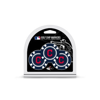 Cleveland Indians Golf Chip with Marker 3 Pack - Team Golf