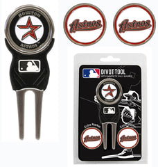 Houston Astros Golf Divot Tool with 3 Markers - Team Golf