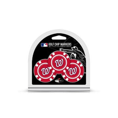 Washington Nationals Golf Chip with Marker 3 Pack - Team Golf