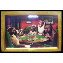 DOGS PLAYING POKER NEON/LED PICTURE
