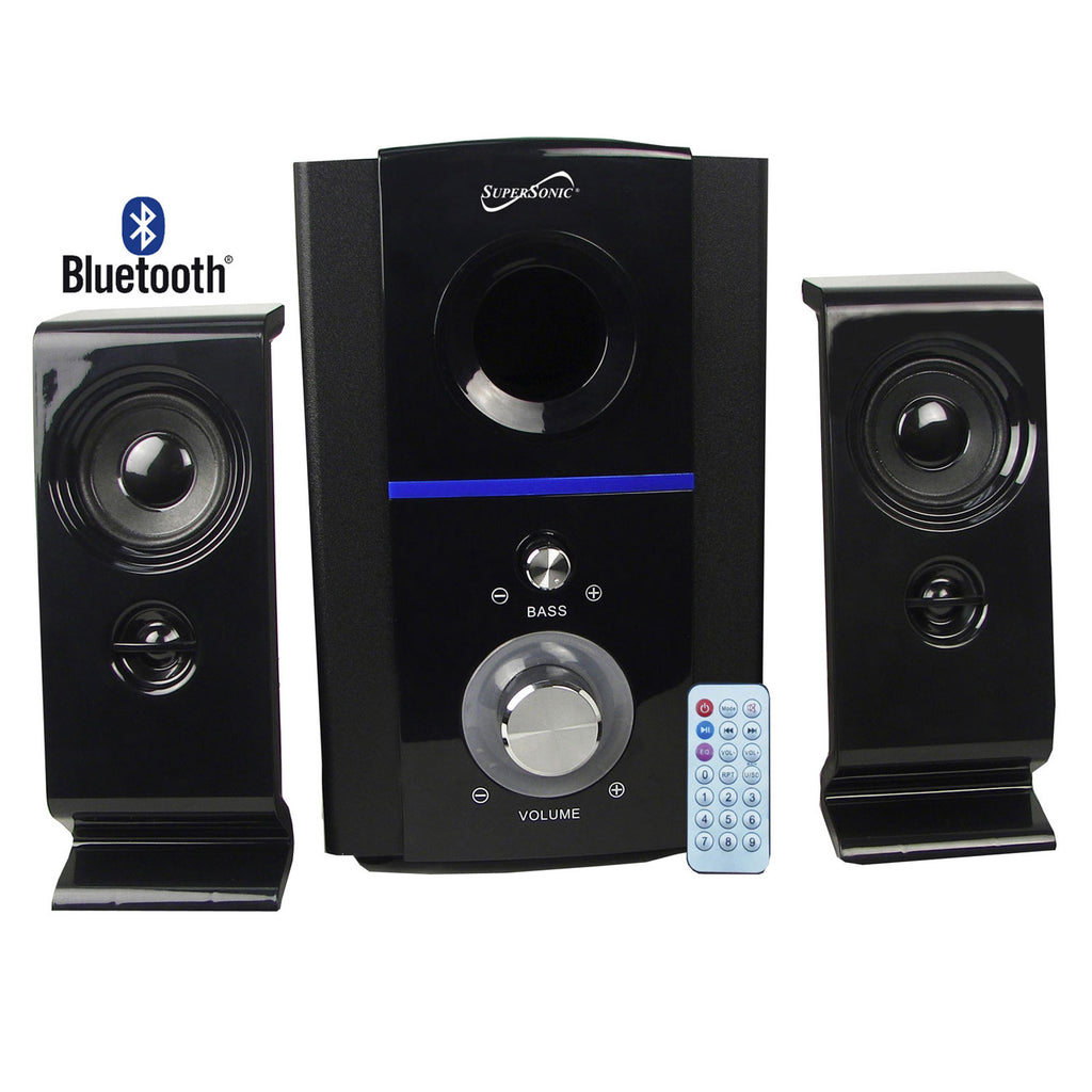 Supersonic  2.1 Bluetooth Multimedia Speaker System in Black