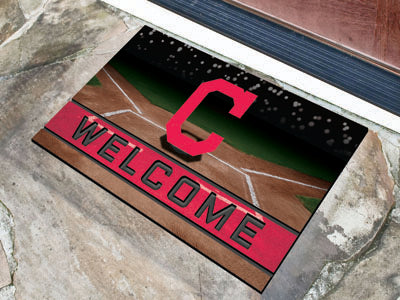 Cleveland Indians Door Mat 18x30 Welcome Crumb Rubber - Fanmats