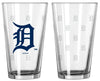 Detroit Tigers Satin Etch Pint Glass Set - Boelter Brands