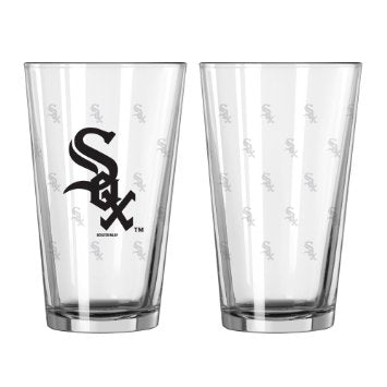 Chicago White Sox Glass Pint Satin Etch 2 Piece Set - Boelter Brands