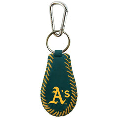 Oakland A's Team Color Baseball Keychain - Gamewear