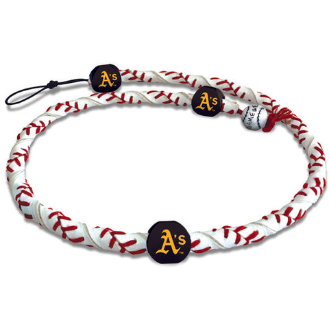 Oakland Athletics Classic Frozen Rope Baseball Necklace - Gamewear