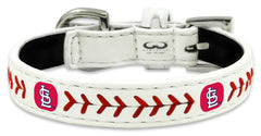 St. Louis Cardinals Classic Leather Toy Baseball Collar - Gamewear