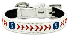 Seattle Mariners Classic Leather Toy Baseball Collar - Gamewear