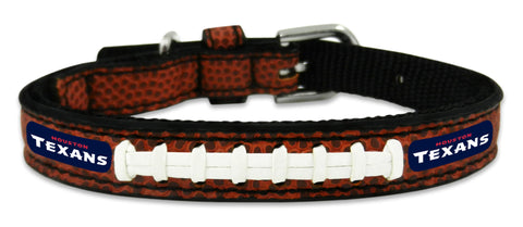 Houston Texans Classic Leather Toy Football Collar - Gamewear