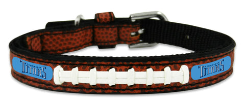 Tennessee Titans Classic Leather Toy Football Collar - Gamewear