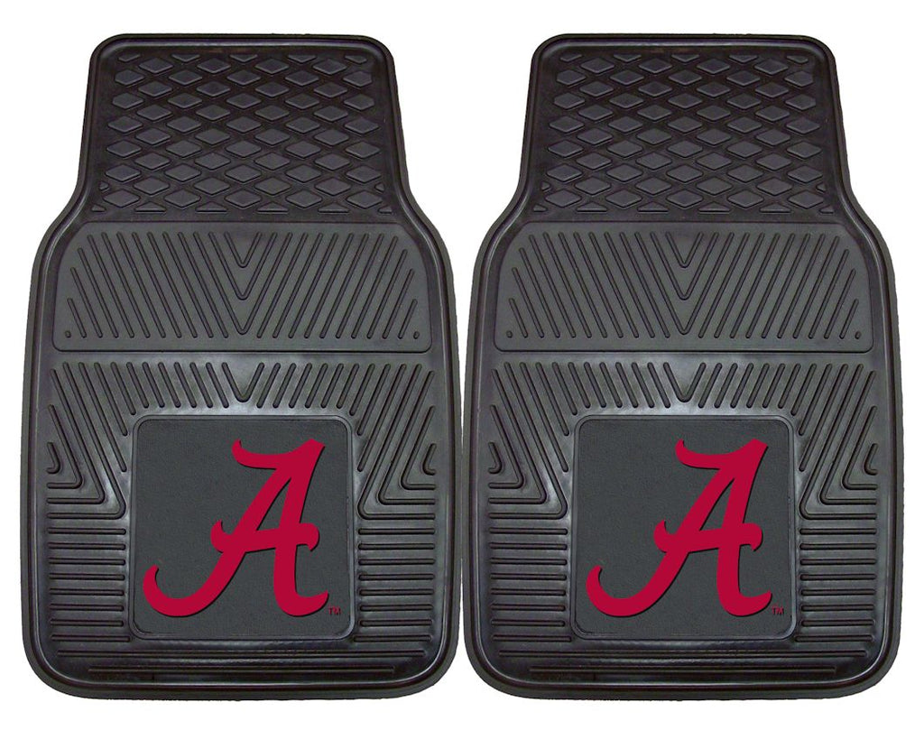Alabama Crimson Tide Heavy Duty 2-Piece Vinyl Car Mats - Fanmats