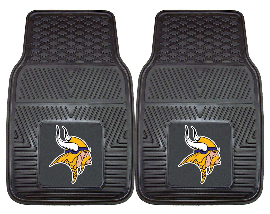 Minnesota Vikings Car Mats Heavy Duty 2 Piece Vinyl - Fanmats