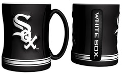 Chicago White Sox Coffee Mug - 14oz Sculpted Relief - Boelter Brands