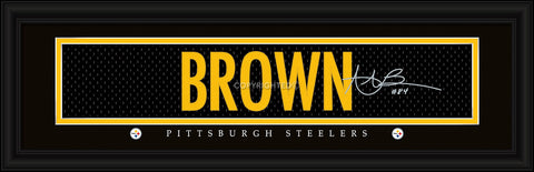 Pittsburgh Steelers Antonio Brown Print - Signature 8''x24'' - Prints Charming