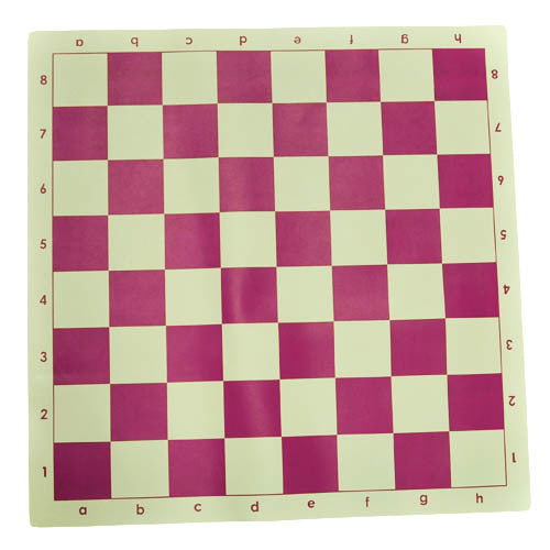 Marion's Roll Up Value Vinyl Chess Board - Pink & Cream - 2 1/4'' Squares