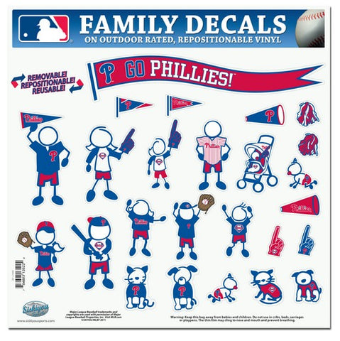 Philadelphia Phillies Decal 11x11 Family Sheet Special Order - Siskiyou