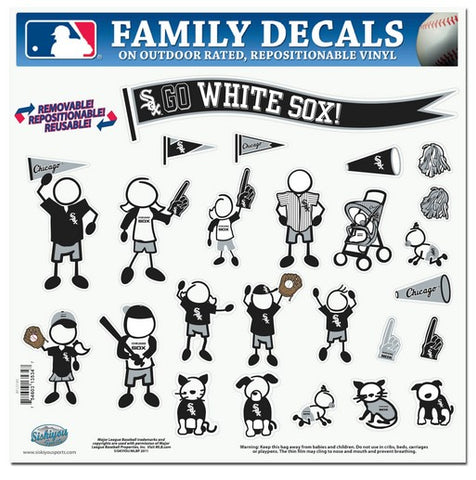 Chicago White Sox Decal 11x11 Family Sheet Special Order - Siskiyou