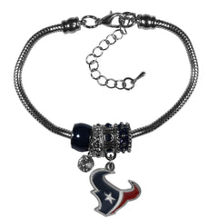 Houston Texans Bracelet Euro Bead Style - Siskiyou