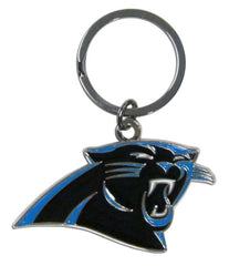 Carolina Panthers Chrome Logo Cut Keychain - Siskiyou